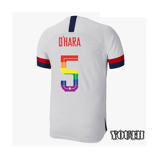 2019/20 USA White Kelley O'hara Youth Soccer Jersey PRIDE