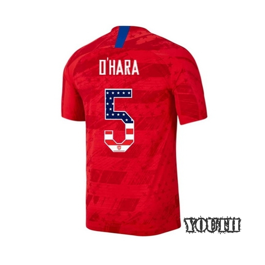 2019/20 USA Away Kelley O'hara Youth Jersey Independence Day