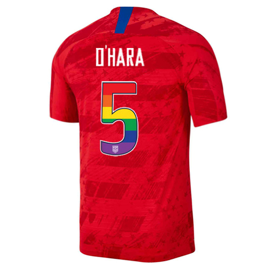 2019/20 USA Red Kelley O'hara Men's Jersey Rainbow Numbers