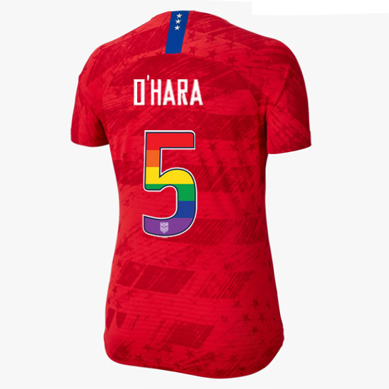 2019/20 USA Red Kelley O'hara Women's Jersey Rainbow Numbers