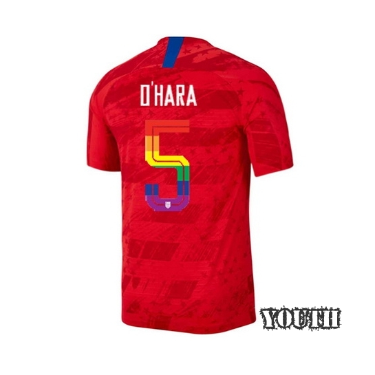 2019/20 USA Red Kelley O'hara Youth Soccer Jersey PRIDE