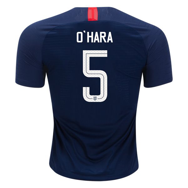 2018/19 USA Away Kelley O'hara Men's Authentic Soccer Jersey (#5)