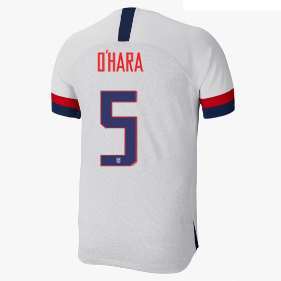 2019/20 USA Home Kelley O'hara Men's Authentic Soccer Jersey (#5)