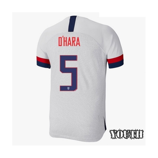2019/20 USA Home Kelley O'hara Youth Soccer Jersey (#5)