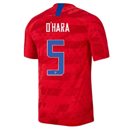 2019/20 USA Away Kelley O'hara Men's Authentic Soccer Jersey (#5)