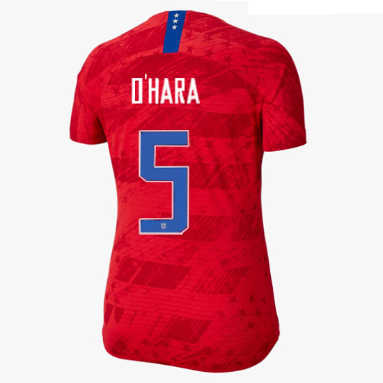 2019/20 USA Away Kelley O'hara Women's 4-Star Soccer Jersey (#5)