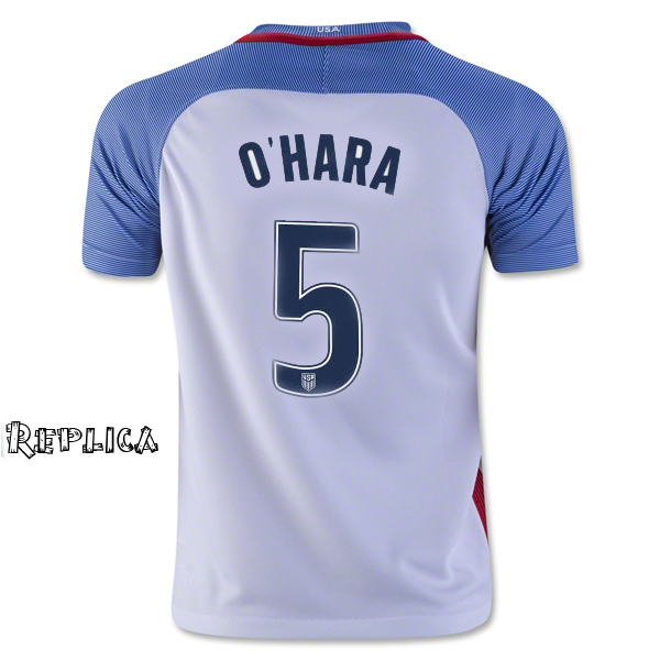 2016/17 USA Home Kelley O'Hara Replica Men's Soccer Jersey (#5)