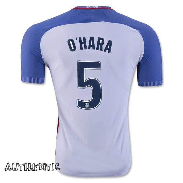 2016/17 USA Home Kelley O'Hara Men's Authentic Soccer Jersey (#5)