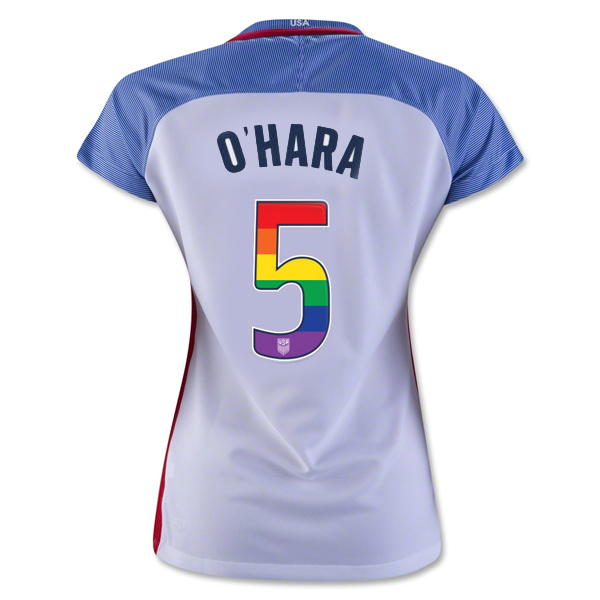 2016/17 Home Kelley O'Hara Jersey Women's 3-Star USA Soccer (LGBTQ Pride)