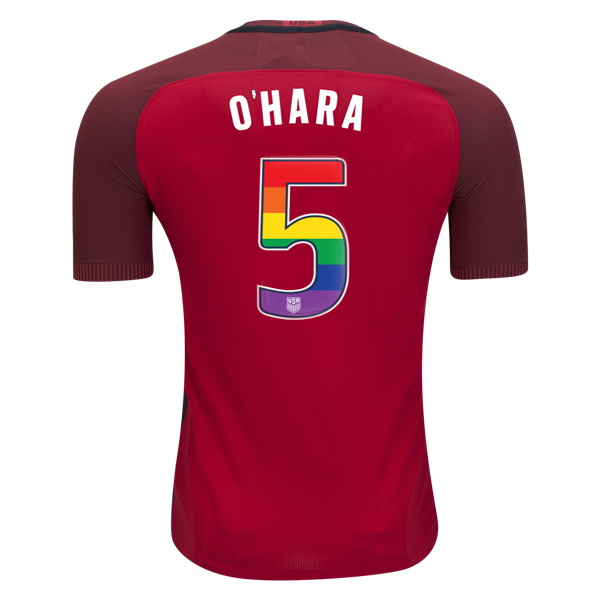2017/18 Third Kelley O'hara Jersey Men's Authentic USA Soccer (LGBTQ Pride)