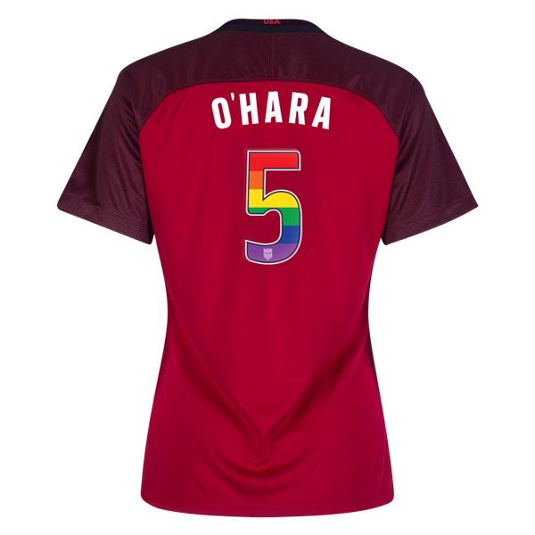 2017/18 Third Kelley O'hara Jersey Women's 3-Star USA Soccer (LGBTQ Pride)
