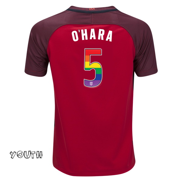 2017/18 Third Kelley O'hara Jersey Youth USA Soccer (LGBTQ Pride)